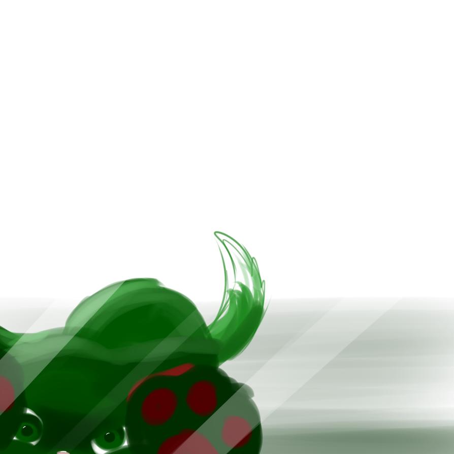 ITS GREEN CAT -speedpaint- by lynaithan