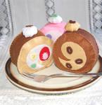 cute felt roll cakes set