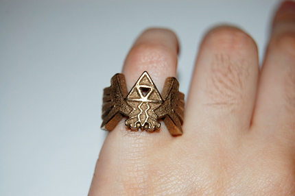 Zelda Triforce Ring by knil-maloon