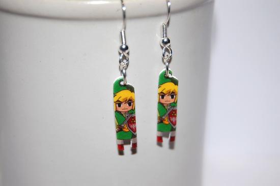 The Legend of Zelda Link earrings by knil-maloon