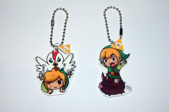 The Legend of Zelda Link Keychains by knil-maloon
