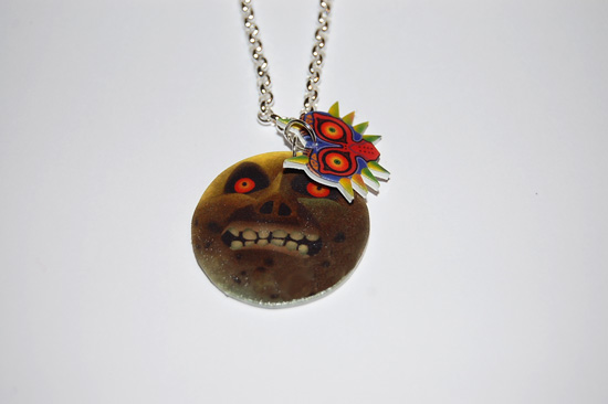 Majora's mask moon necklace by knil-maloon