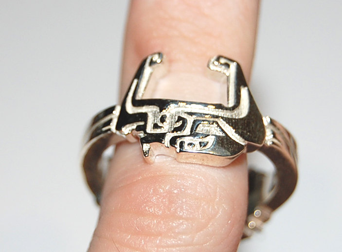 Silver The Legend of Zelda Midna Wolf Link Ring by knil-maloon