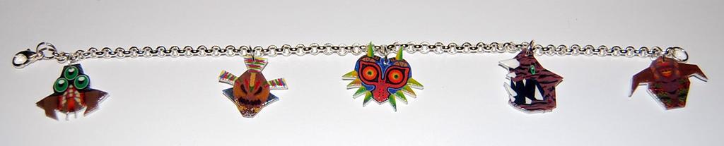Legend of Zelda Majora's Mask bosses bracelet by knil-maloon