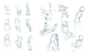 Pose Studies 4 - Seeing poses in perspective by Brant-Bi