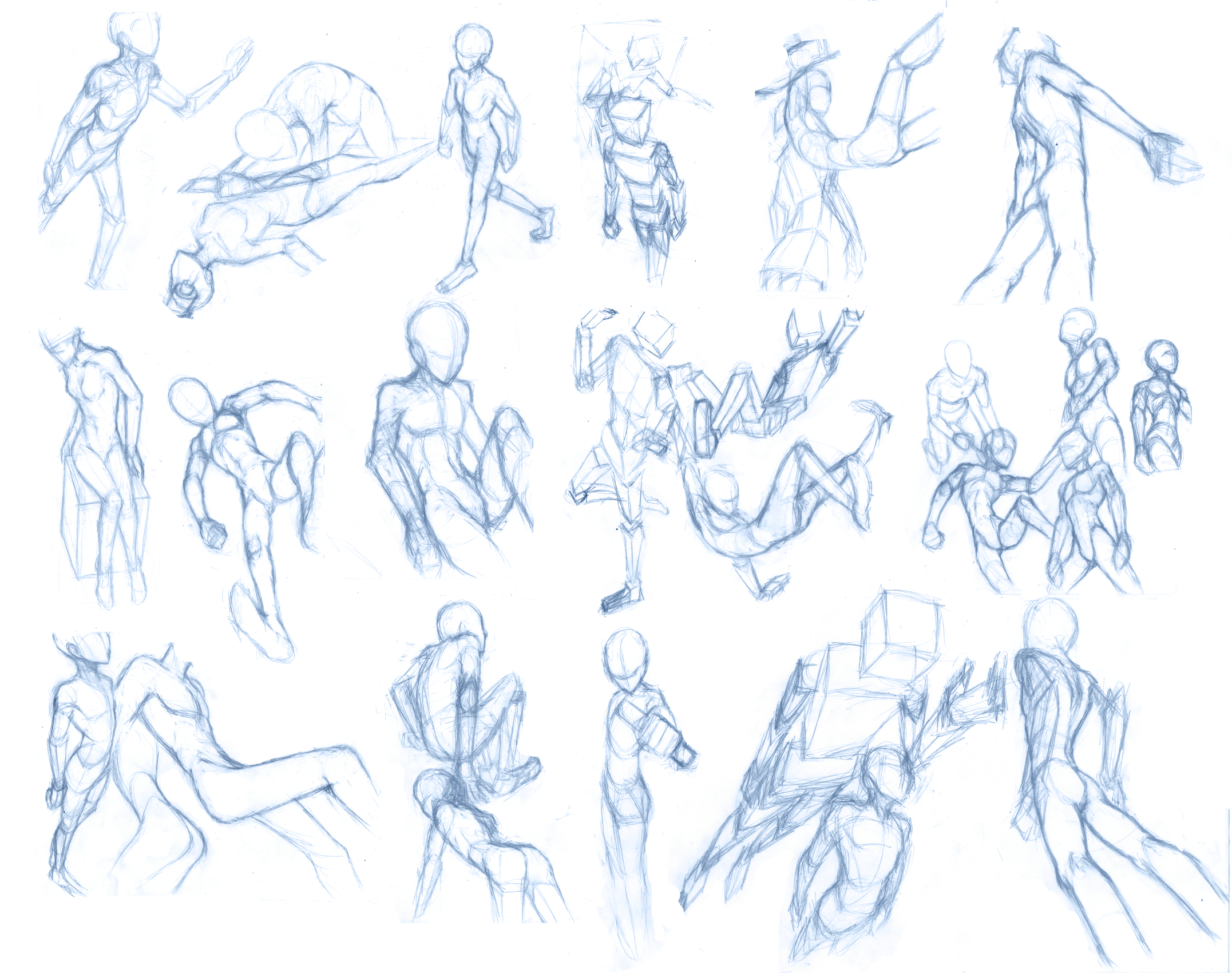 how to draw anime action poses