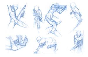 Random poses 21 (guns)