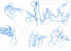 Pose Studies 12 (guns) by Brant-Bi