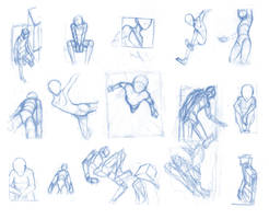 Random poses 27 (massive sheet) by Brant-Bi