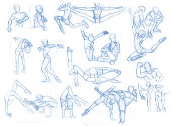 Pose Studies 24 (massive sheet) by Brant-Bi