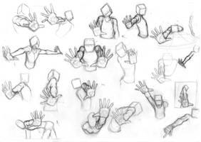 Pose Studies 25 (Foreshortening studies 1)