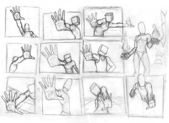 Pose Studies 26 (Foreshortening studies 2) by Brant-Bi