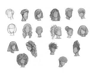 Hair Studies 1 by Brant-Bi
