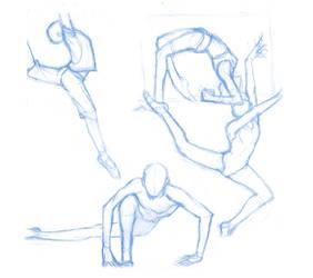 Pose Studies 27 (ballerins 1) by Brant-Bi