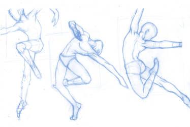 Pose Studies 28 (ballerins 2) by Brant-Bi