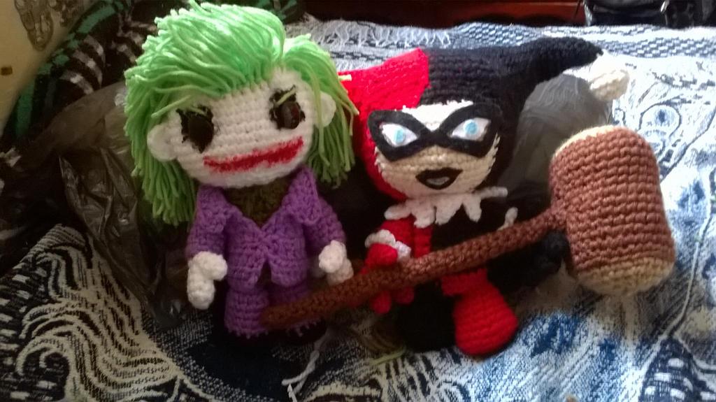 Amigurumi Harley Quinn : joker and harley quinn by AlexWyattHalliwell on DeviantArt