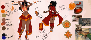 Sailor Spessartine Fossa Ref Sheet {WIP-ish} by PinkVampire