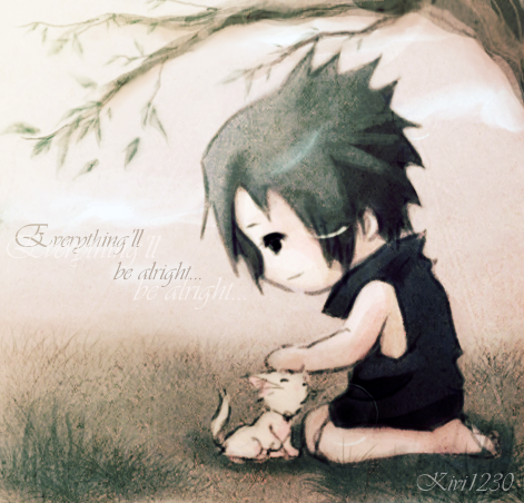 Sasuke:: Little cat by kivi1230 on DeviantArt  Sasuke As A Cat