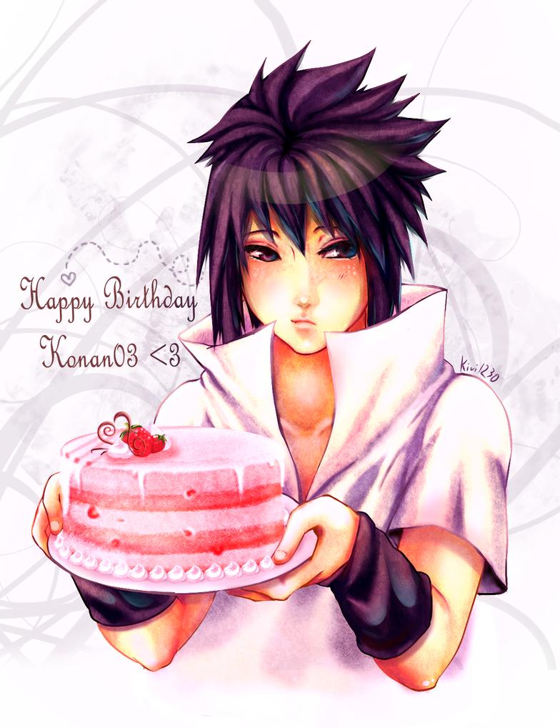 Sasuke :: Happy bday, Konan03 by kivi1230
