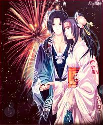 Itachi and Ayumi : Hanakotoba by kivi1230