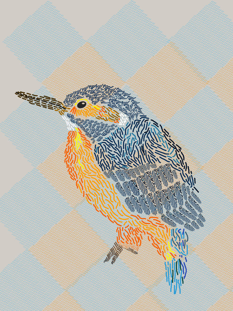 Kingfisher and Patchwork by JustJoshingLiek