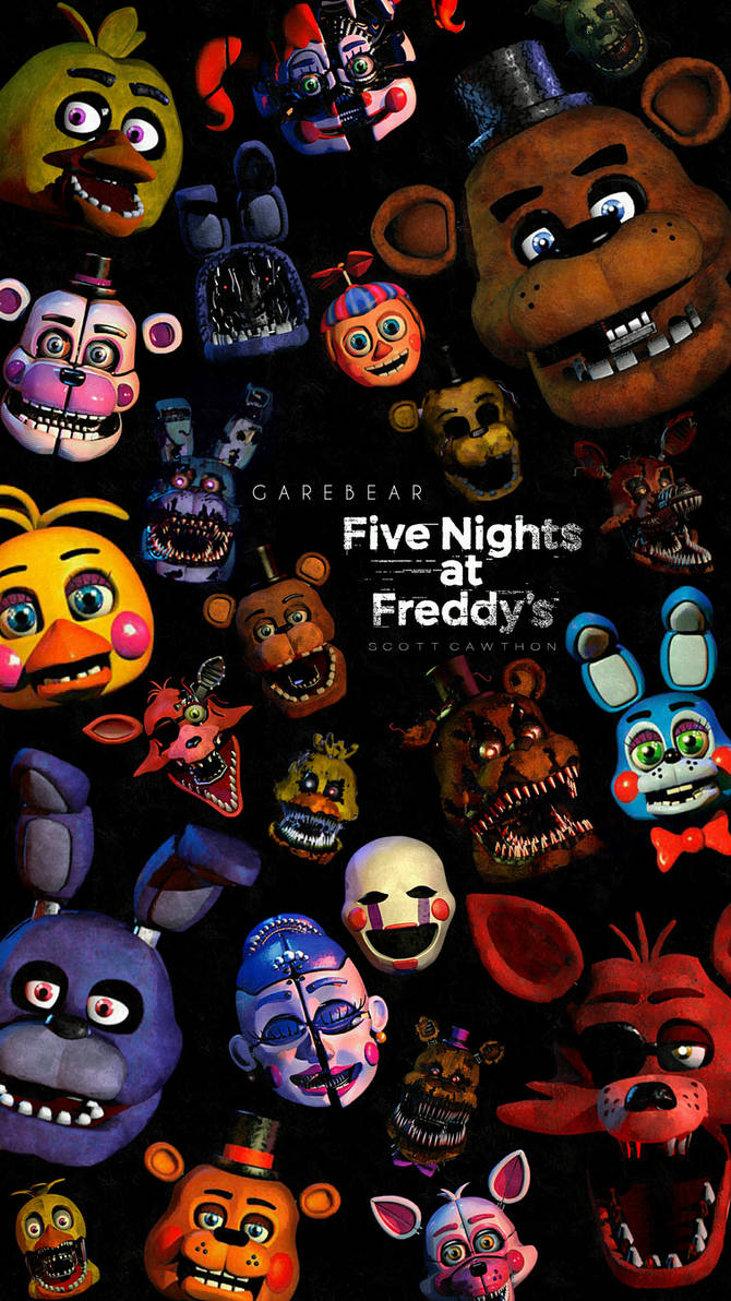 Five nights at freddys 1-5 by GareBearArt1