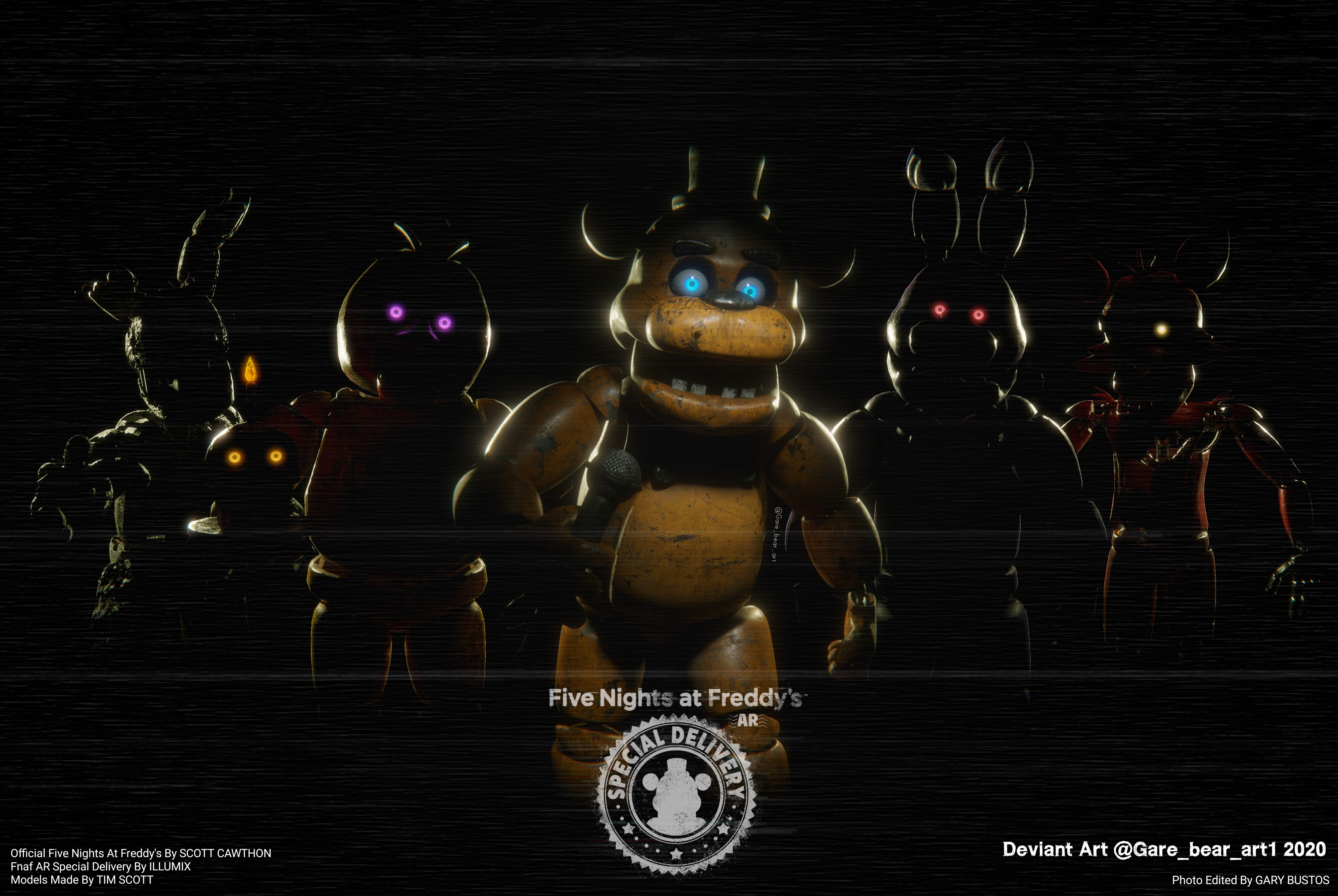 Five Nights At Freddy S Ar Wallpaper By Garebearart1 On Deviantart