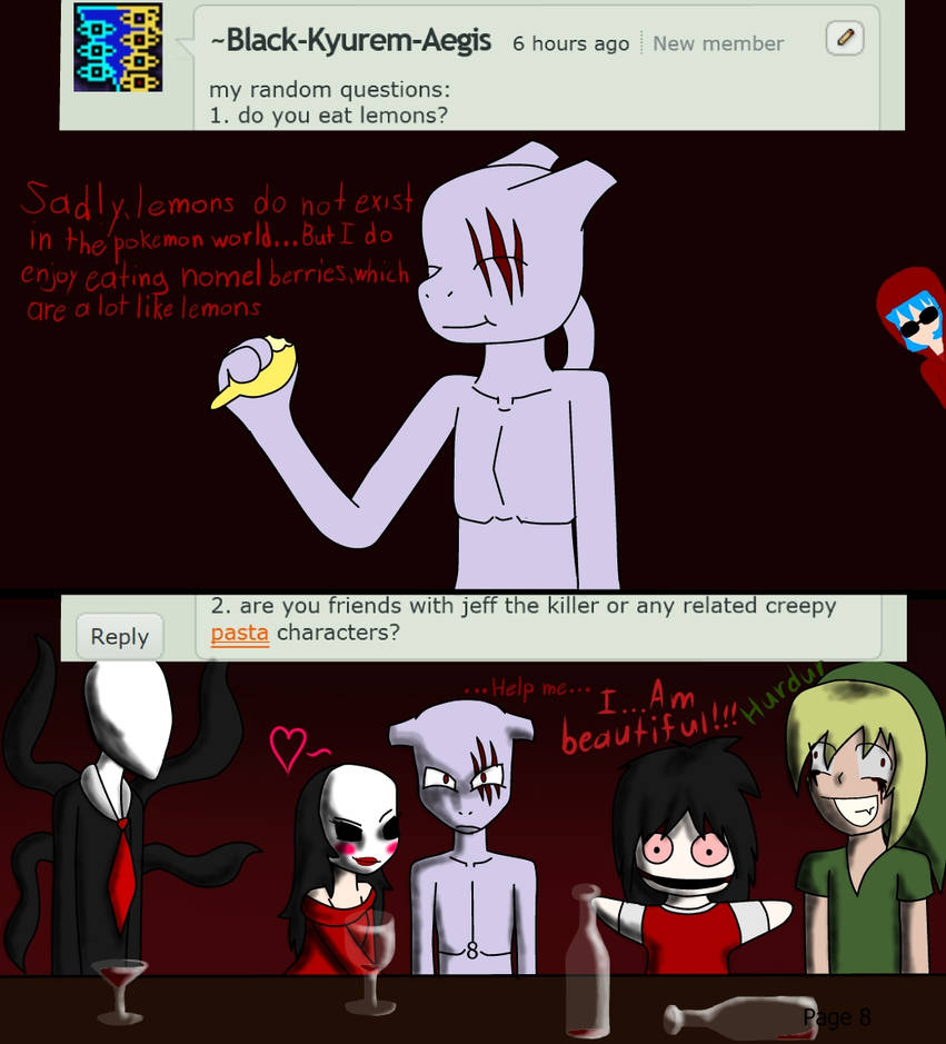 Ask Tarnished Mewtwo: Creepypasta characters by AskTarnishedMewtwo