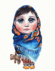 Matryoshka-girl by oksanadimitrenko