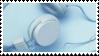 blue headphones aesthetic stamp