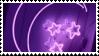 purple moon + stars aesthetic stamp by hematology