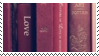 red books aesthetic stamp