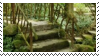 plants + stairs aesthetic stamp by hematology