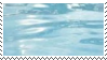 blue water aesthetic stamp
