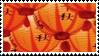 orange lanterns aesthetic stamp