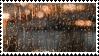 rainy window aesthetic stamp
