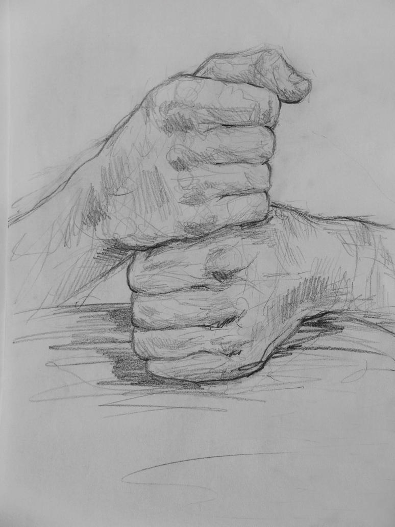 sketch of fist by Agatzor