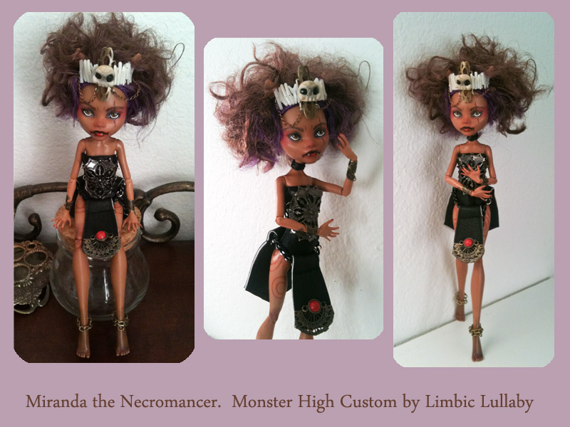 MH Clawdeen custom doll by limbiclullaby