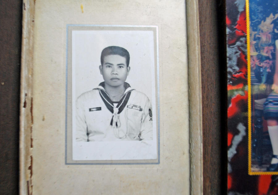 Framed photo on a Thai wall by dpt56