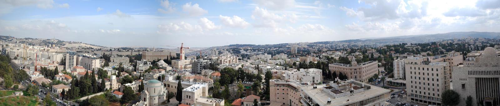 Jerusalem Panorama 2010, 1 by dpt56
