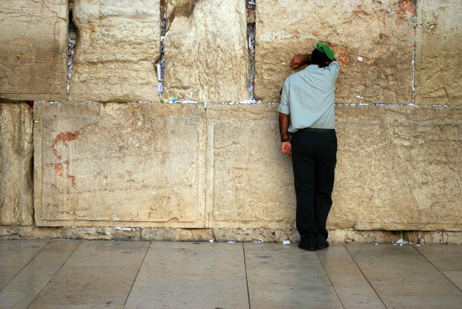 A private moment at the Kotel by dpt56