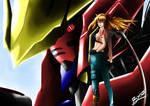 Fanart : Asuka Langley and Barbatos Gundam