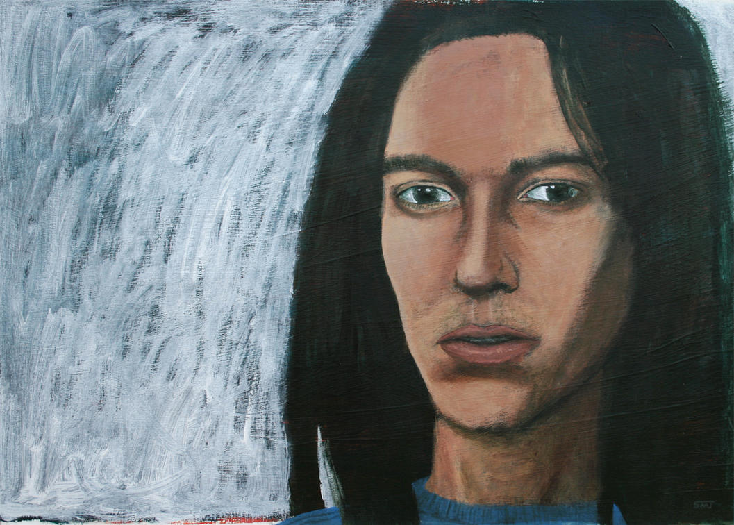 Self Portrait In Blue Shirt by ShaunMichaelJones
