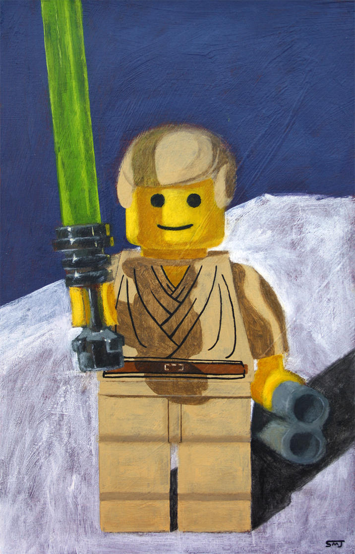 Lego Luke Skywalker Minifigure by ShaunMichaelJones