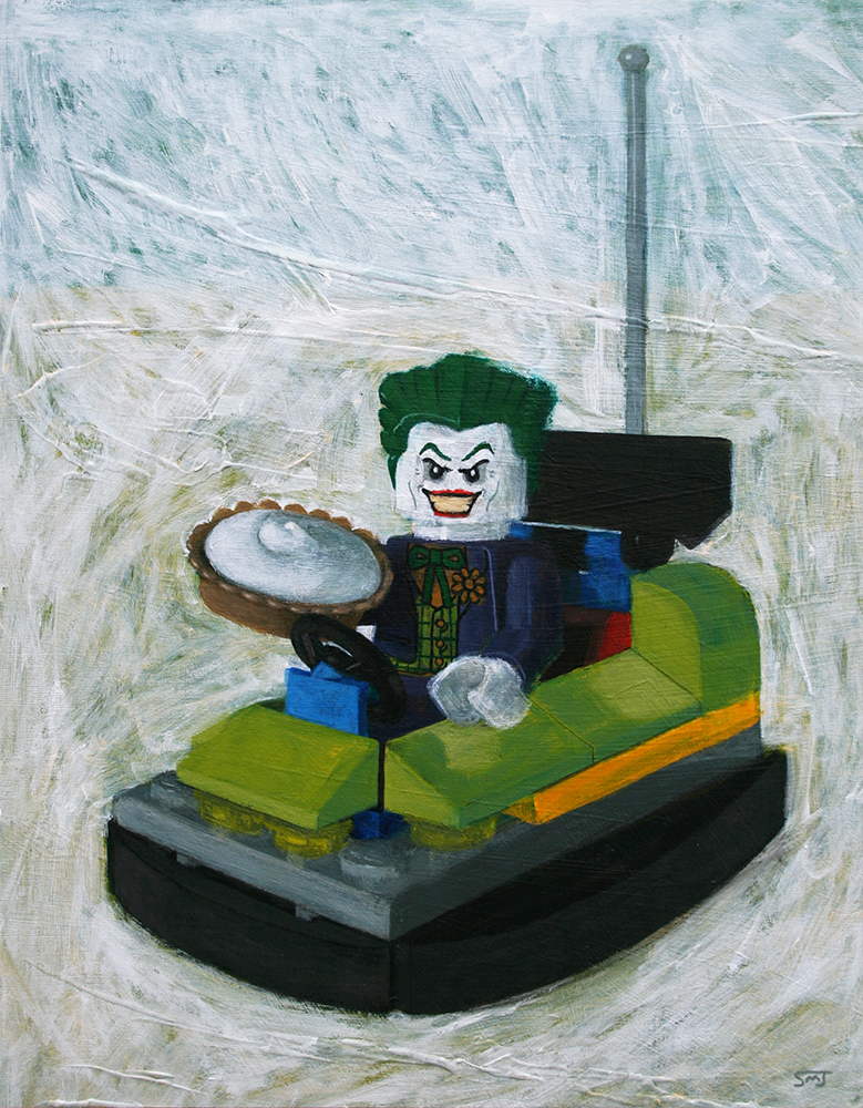 Lego Joker And Bumper Car by ShaunMichaelJones