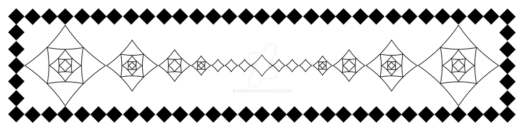 Scarf Pattern: Diamond Madness by Kamikashi