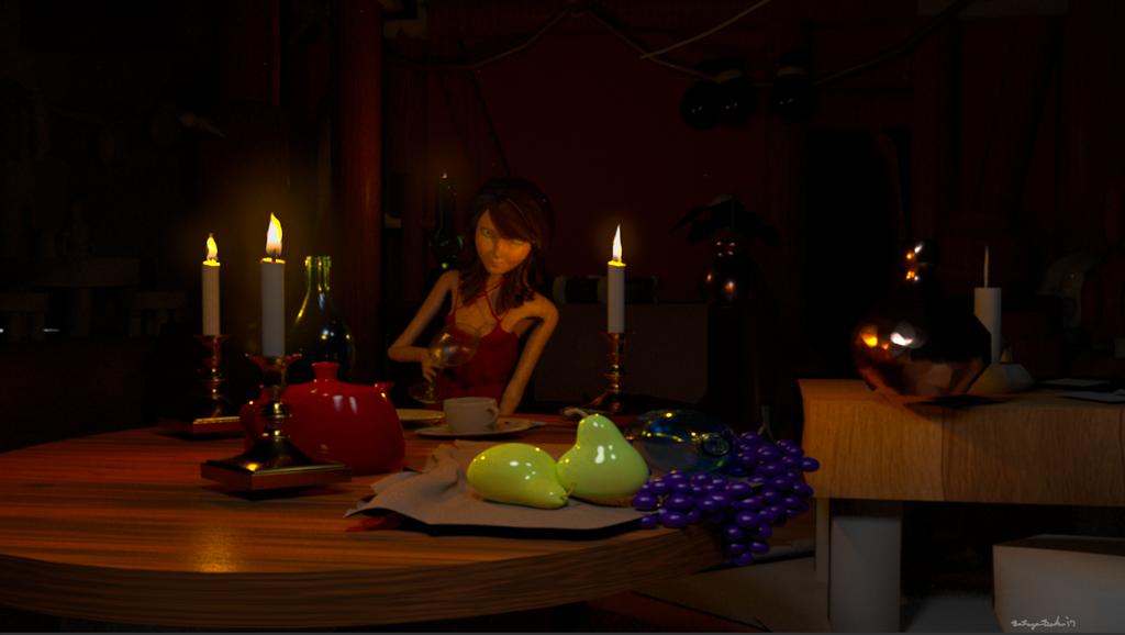 Renderman candlelit by brogboe