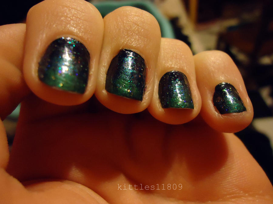 Outer space nails 2 by kittles11809 on deviantart for Outer space nail design