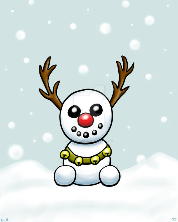 Frosdolph the Red-Nosed Snowdeer by hotcheeto89