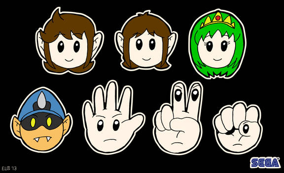 Alex Kidd in Miracle World chibi-pop heads